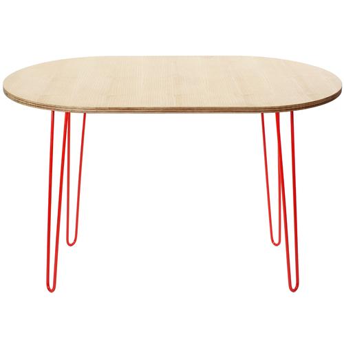 Стол кофейный Oval High (900, ДСП) Hairpinlegs натуральный