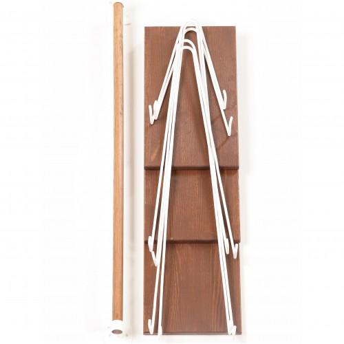 Настенная полка Wood Level 2 Щит Сосна коричневая Hairpinlegs