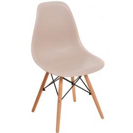 Стул Eams chair М-05 бежевый ноги дерево Verde