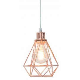 Лампа подвесная Cage S медь 37715 Invicta