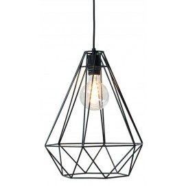 Лампа подвесная Cage L черная 37714 Invicta