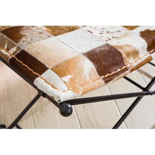 Пуф Rodeo 90cm коричневый 37342 Invicta