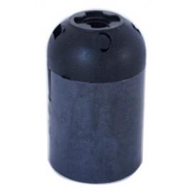 Патрон люстровый пластиковый черный X-ed