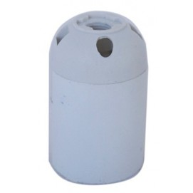 Патрон люстровый пластиковый белый X-ed