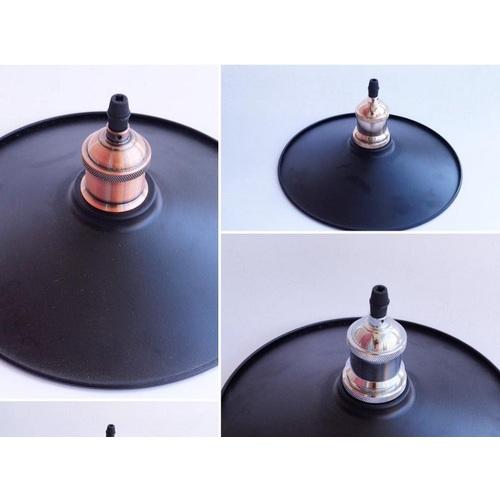 Стальной абажур в стиле лофт D250 черный X-ed