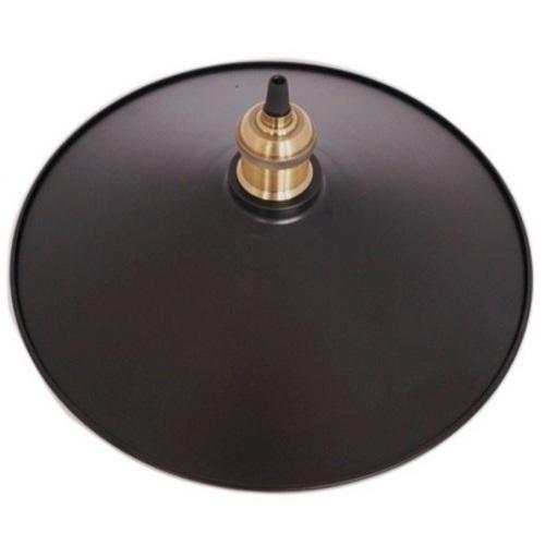 Стальной абажур в стиле лофт D350 черный X-ed