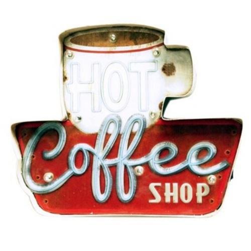 Настенный светильник с светодиодными лампочками Coffee Shop красный X-ed