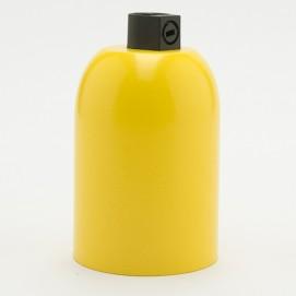 Патрон с закругленной накладкой E27 желтый Retro