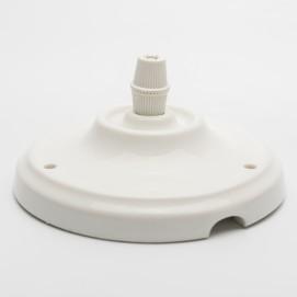Потолочный крепеж керамический белый Retro