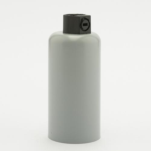Патрон с накладкой E14 серый Retro