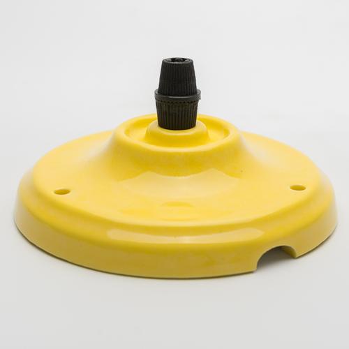 Потолочный крепеж керамический желтый Retro