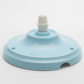 Потолочный крепеж керамический голубой Retro