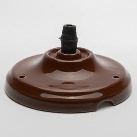 Потолочный крепеж керамический коричневый Retro