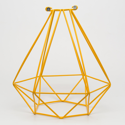 Абажур диамант желтый Retro