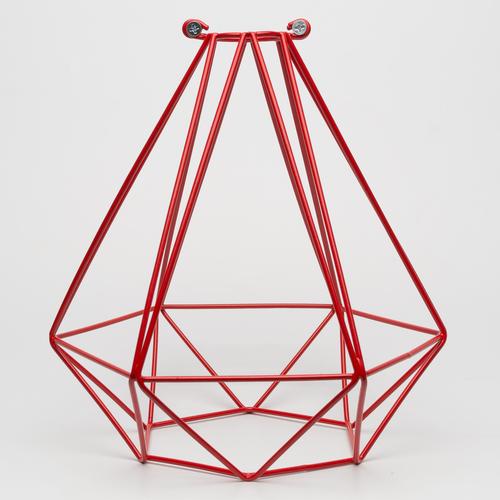 Абажур диамант красный Retro