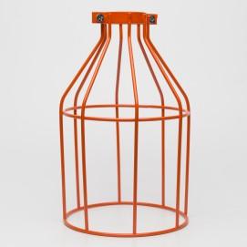 Абажур клетка оранжевый Retro