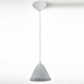 Лампа подвесная Конус 13407 белая N&B LIGHT