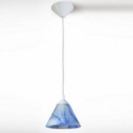 Лампа подвесная Конус 13407 голубая N&B LIGHT
