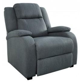 Кресло реклайнер Hollywood Struktur темно-серое 37929 Invicta