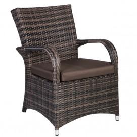 Кресло Wicker 12135 коричневое Evelek