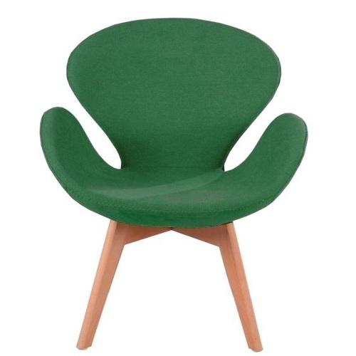 Кресло Сван Вуд Армз зеленое Mebelmodern