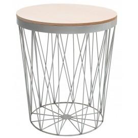 Стол кофейный Storage II серый/ 37545 Invicta