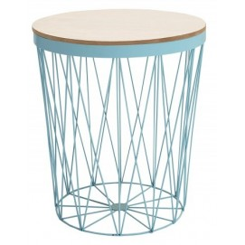 Стол кофейный Storage II голубой/ 37543 Invicta