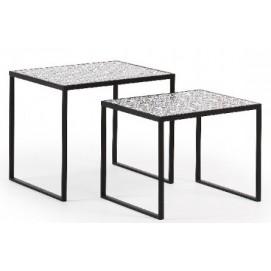 Набор столиков 2шт TROPICA черный CC0491R01 Laforma 2018