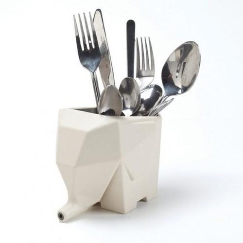 Сушка для столовых приборов и ванных принадлежностей Jumbo Peleg Design Кремовая