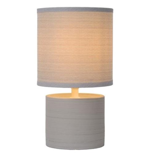 Лампа настольная GREASBY 47502/81/36 серая Lucide
