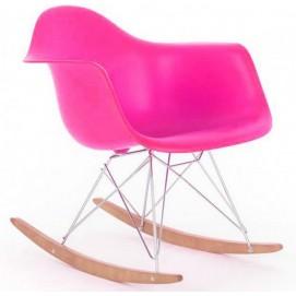 Кресло качалка Paris Primel розовое
