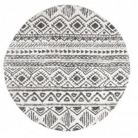 Ковер круглый COOS AA1790J01 черно-белый Laforma 2018
