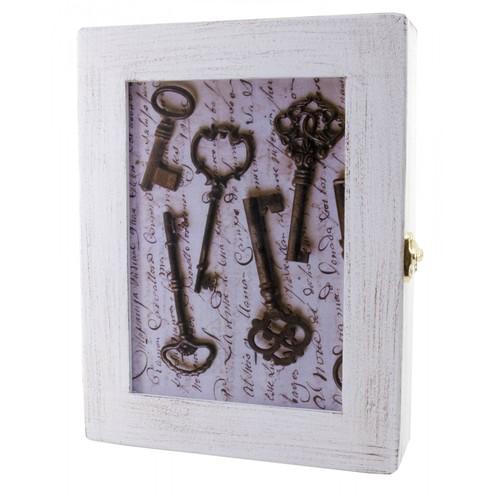 """Ключница """"Ключи"""" белая массив дерева 30621"""