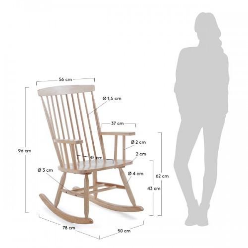 Кресло качалка TERENCE CC0351M46 натуральное Laforma 2018