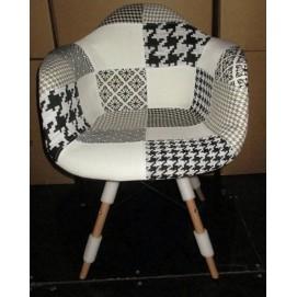 Кресло PC-018WB Kordo №2 черно-белое