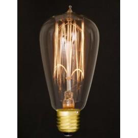 Лампочка ST64 40W Amber 2700K E27 Thexata