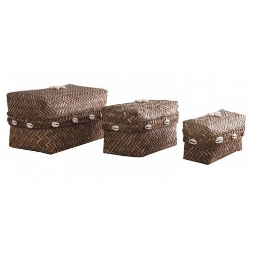 Набор корзин 3 шт 22533 коричневый VicalHome