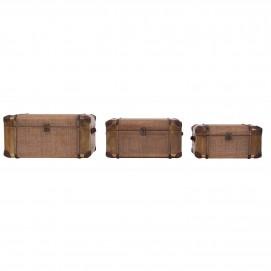 Набор сундуков 3шт 23578 коричневый VicalHome