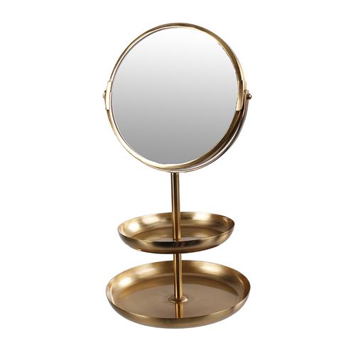 Зеркало настольное 17x33cm 883358 золото Dyyk
