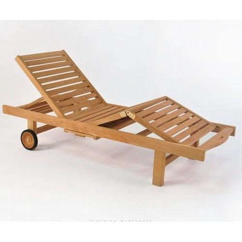 Лежак тиковый ЛЕОНА из тикового дерева AJG706 EVA TEAK