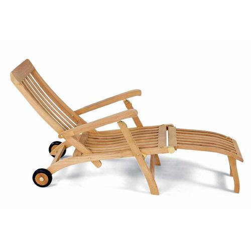 Лежак тиковый СТИМЕР из тикового дерева AJG704 EVA TEAK