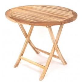 Стол круглый складной САНТА из тикового дерева AJG207 EVA TEAK