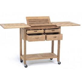 Сервировочный столик из тикового дерева AJG601 EVA TEAK