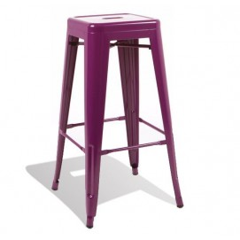 Кресло барное со спинкой Tolix MC-012P фиолетовый Primel 2018