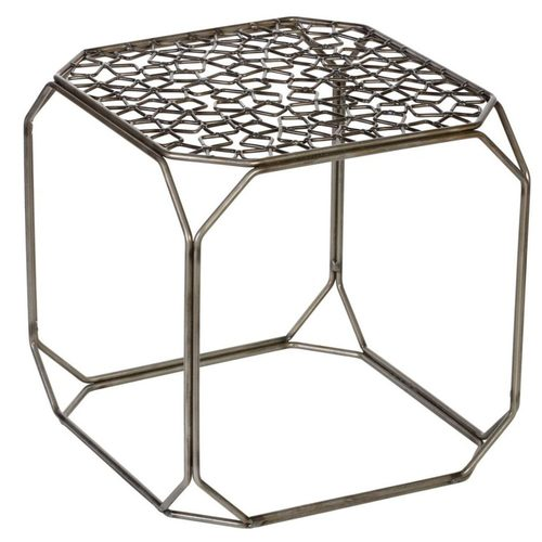 Стол журнальный Куб TRID HOUSE №1 А серебро