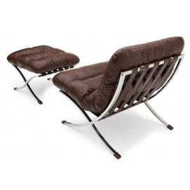 Комплект мебели кресло и пуфик LEONARDO LINEA Lareto коричневый