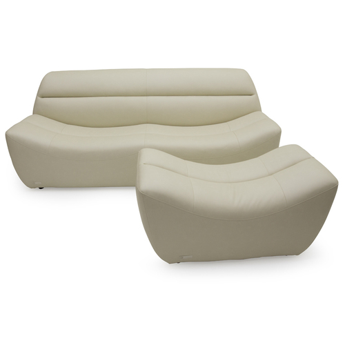 Комплект мебели диван и пуфик ANGELI Lareto белый