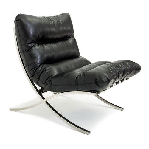 Кресло LEONARDO LINEA Lareto черное