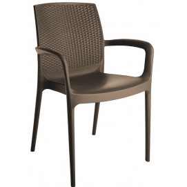 Кресло BOHEME S6618BR коричневое GRANDSOLEIL