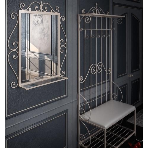 Комплект прихожая и зеркало Амбер белая Tenero